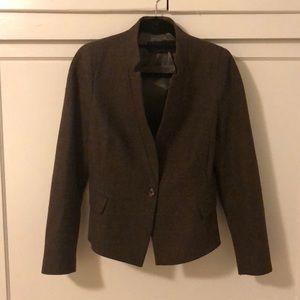 Zara Lambswool Tweed Blazer - Women - Small